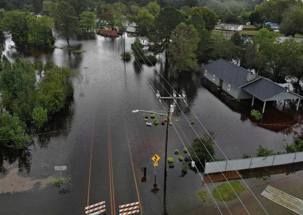 Ngập lụt vì bão Florence ở TP Fayetteville, bang North Carolina (Mỹ). Ảnh: GETYY IMAGES
