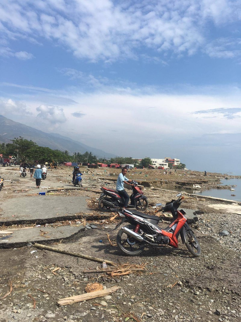 Palu sau khi hứng động đất và bị sóng thần tràn vào. Ảnh: NG KOK CHOONG