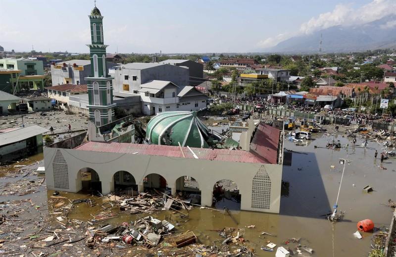Quang cảnh ở đông Palu, tỉnh Trung Sulawesi (Indonesia) ngày 29-9. ảnh: ANTARA