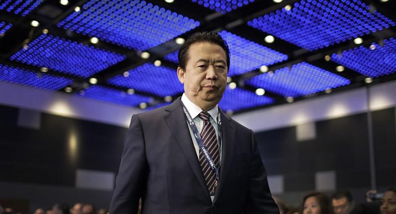 Chủ tịch Interpol Mạnh Hoàng Vĩ mất tích khi từ Pháp trở về Trung Quốc. Ảnh: AP