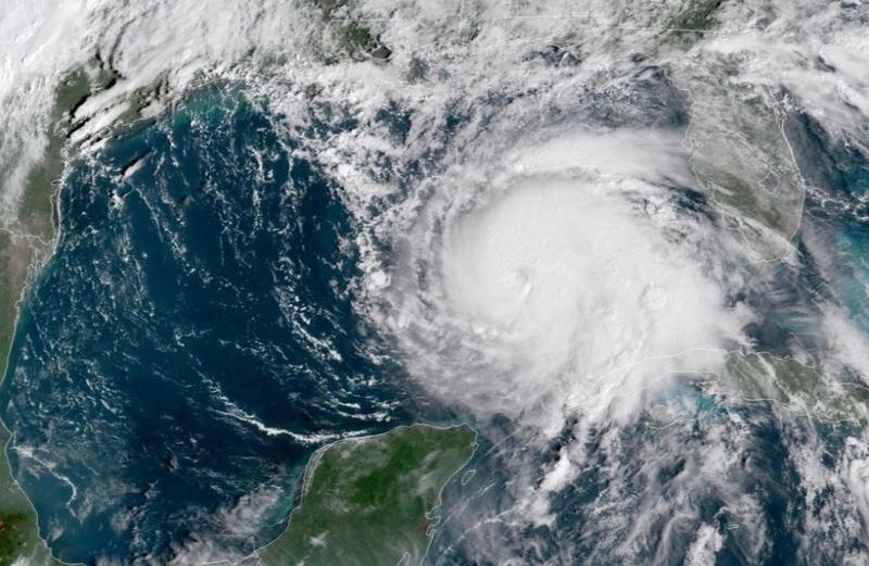 Ảnh vệ tinh cơn bão Michael ngày 9-10. Ảnh: REUTERS