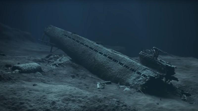 Ảnh mô phỏng dự án chôn tàu ngầm Đức Quốc xã đầy hóa chất do Cơ quan Duyên hải NaUy tạo ra. Ảnh: RT