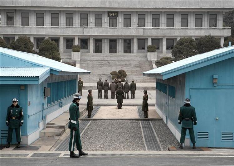 Khu An ninh chung ở biên giới liên Triều. Ảnh: ALCHETRON