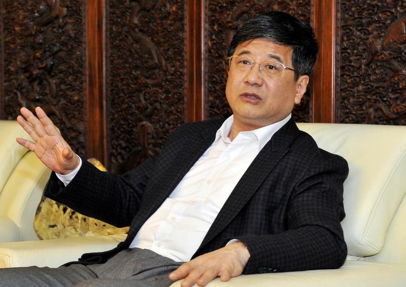 Ông Trịnh Hiểu Hùng tại một cuộc họp ở Phúc Châu, Phúc Kiến (Trung Quốc) ngày 23-4-2016. Ảnh: REUTERS
