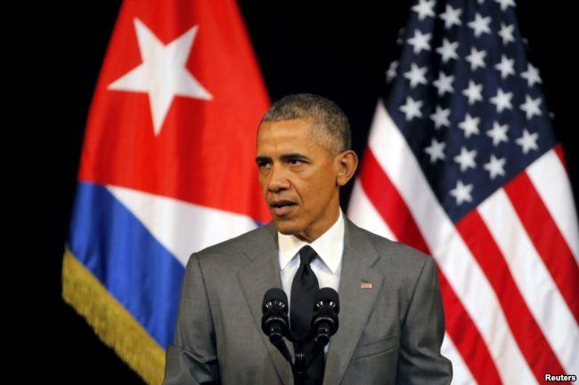 Mỹ lần đầu tiên không có ý kiến trong phiên bỏ phiếu của Đại Hội đồng LHQ về lên án Mỹ cấm vận kinh tế Cuba vào năm 2016, dưới thời Tổng thống Barack Obama. Ảnh: AP