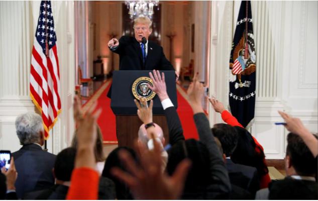 Tổng thống Mỹ Donald Trump tại cuộc họp báo ngày 7-11 tại Nhà Trắng. Ảnh: REUTERS