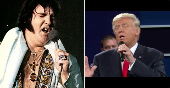 Dân mạng đã nhanh chóng so sánh hình ảnh nam ca sĩ Elvis Presley và Tổng thống Donald Trump. Ảnh: TWITTER