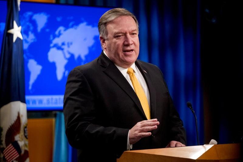 Ngoại trưởng Mỹ Mike Pompeo thông báo bắt đầu tiến trình rút khỏi Hiệp ước INF kéo dài 180 ngày. Ảnh: AP