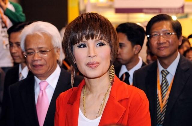 Công chúa Thái Lan Ubolratana Rajakanya trong chuyến thăm khu triển lãm của Thái Lan tại Hong Kong năm 2010. Ảnh: AFP
