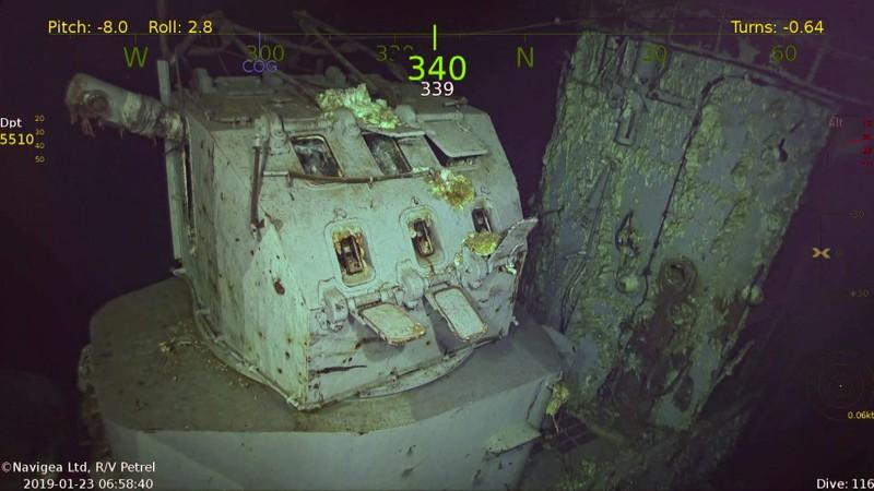 Máy ngắm trên xác tàu sân bay USS Hornet được tìm thấy dưới đáy biển Nam Thái Bình Dương. Ảnh: FOX NEWS