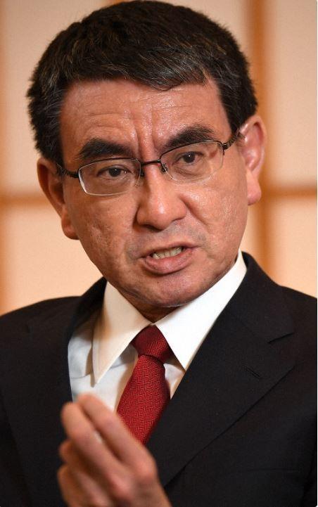 Ngoại trưởng Nhật Taro Kono cho biết Nhật ủng hộ Chủ tịch Quốc hội, lãnh đạo đối lập Juan Guaido là tổng thống lâm thời Venezuela. Ảnh: MAINICHI