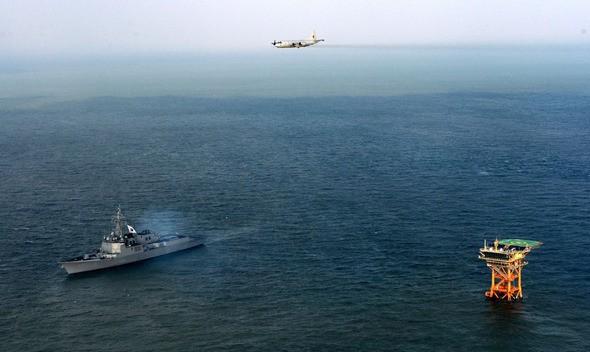 Vùng biển đảo Ieo, nơi Hàn Quốc và Trung Quốc đều tuyên bố chủ quyền. Ảnh: HANKYOREH