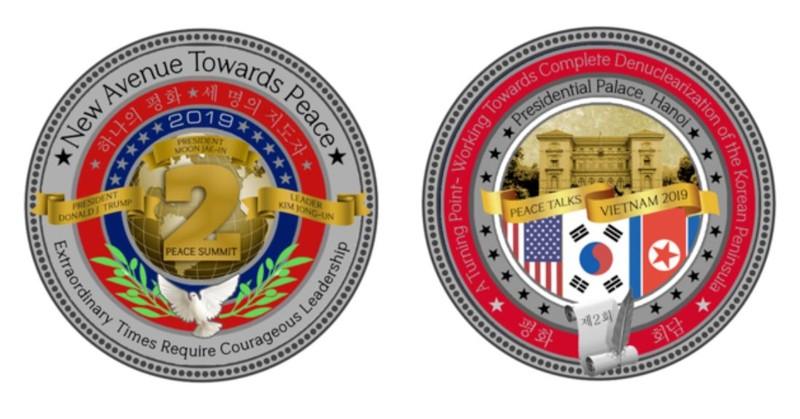 Nhà Trắng bán đồng xu kỷ niệm thượng đỉnh Trump-Kim lần hai - ảnh 1