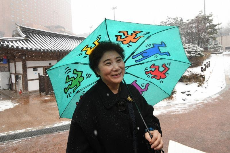 Bà Han Sung-lim nói bà ủng hộ thống nhất hai miền Nam Bắc. Ảnh: AFP