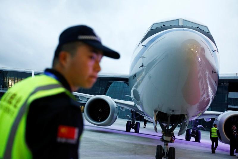 Một chiếc Boeing 737 Max 8 của Trung Quốc. Các hãng bay Trung Quốc khai thác tổng cộng 96 chiếc Boeing 737 Max 8. Ảnh: REUTERS