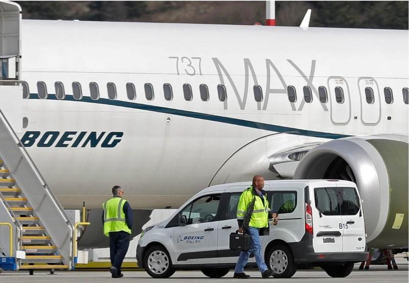 Một chiếc Boeing 737 MAX 8 đậu tại nhà máy ở TP Seattle, bang Washington (Mỹ) ngày 15-3. Ảnh: AP