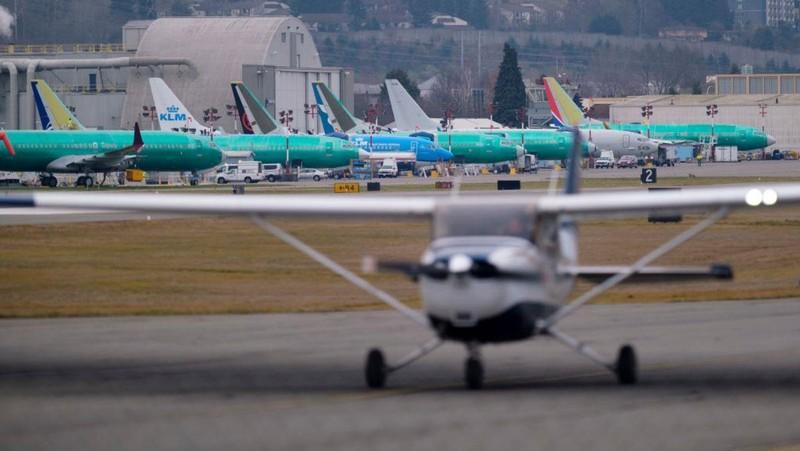 Mỹ đã cho hạ cánh toàn bộ Boeing 737 MAX 8 sau vụ tai nạn ở Ethiopia. Ảnh: GETTY IMAGES