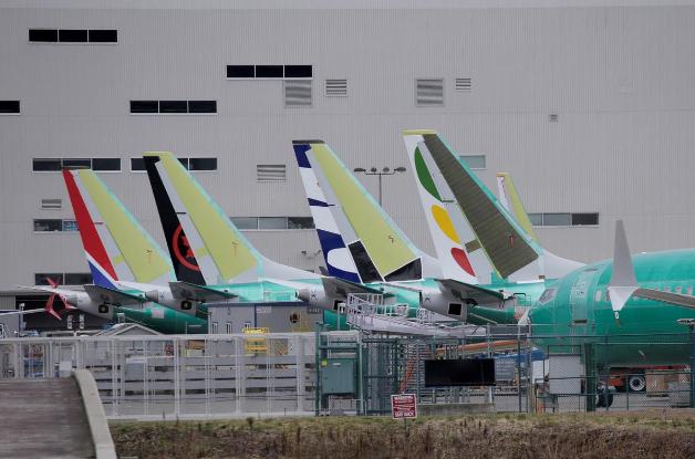 Máy bay Boeing 737 MAX 8 tại nhà máy Boeing ở TP Renton, bang Washington (Mỹ) ngày 11-3. Ảnh: REUTERS