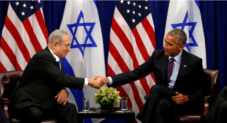 Ông Obama (phải) và ông Netanyahu (trái) trong lần gặp ở New York (Mỹ) ngày 21-9-2016. Ảnh: REUTERS