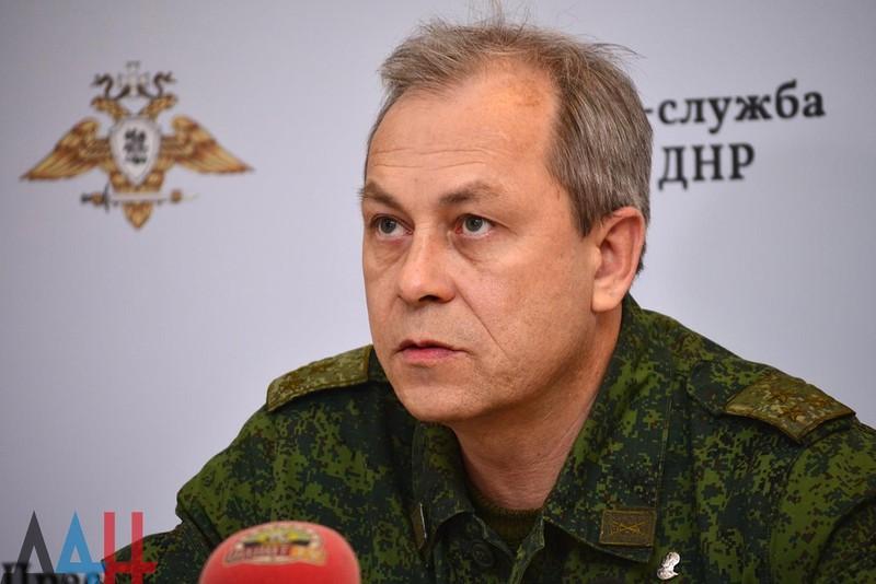 Chỉ huy Eduard Basurin của lực lượng đòi ly khai ở Đông Ukraine còn được biết đến là Cộng hòa nhân dân Donetsk (DPR) tự xưng. Ảnh: NEWS FRONT