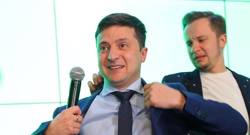 Diễn viên hài Volodymyr Zelenskiy khả năng lớn sẽ là tổng thống mới của Ukraine. Ảnh: SPUTNIK