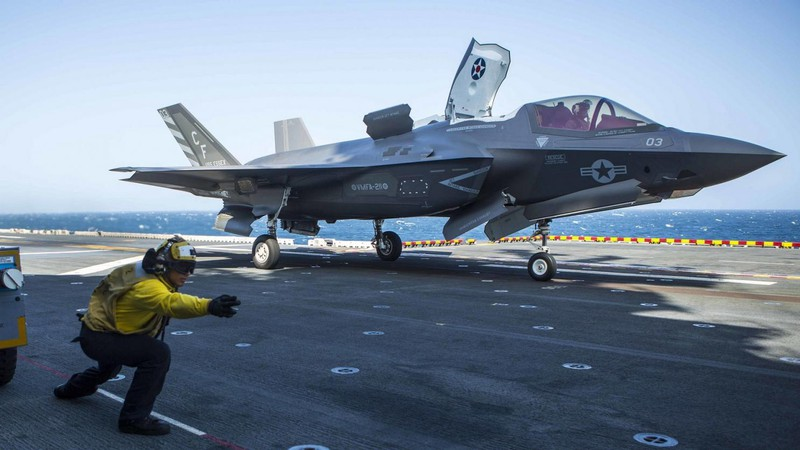 Tiêm kích tàng hình đa năng F-35 của Mỹ. Ảnh: NATIONAL INTEREST