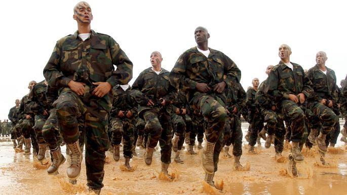Lính LNA trong một phiên huấn luyện. Ảnh: THE TIMES