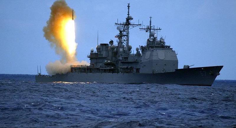 Tên lửa SM-3 được phóng từ tàu khu trục tên lửa USS Shiloh của Mỹ. Ảnh: AFP