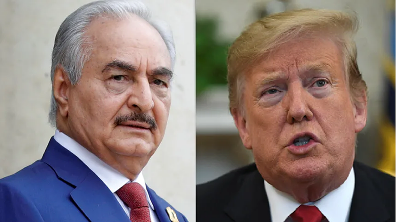 Tướng Khalifa Haftar vừa có cuộc điện đàm với Tổng thống Mỹ Donald Trump và được ông Trump hoan nghênh vai trò chống khủng bố. Ảnh: AP