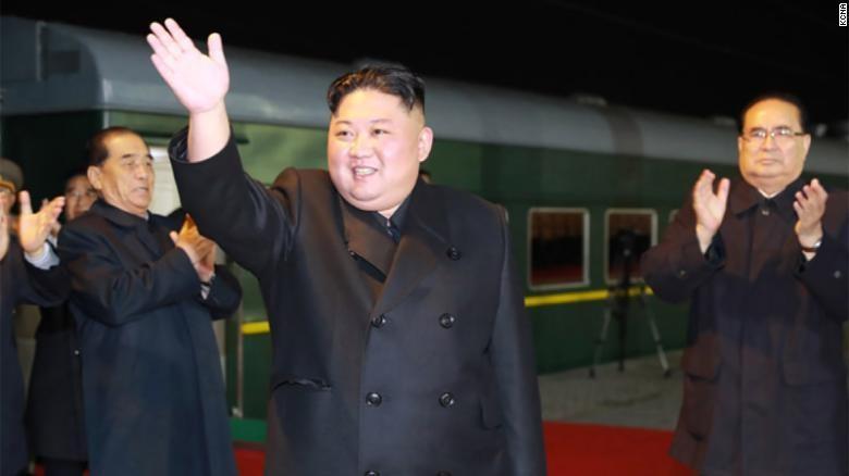 Đoàn tàu chở ông Kim Jong-un đã vào nước Nga. Ảnh: CNN