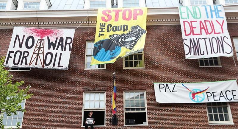 Venezuela mời 40 nhà hoạt động Mỹ bảo vệ ĐSQ ở Washington - ảnh 2