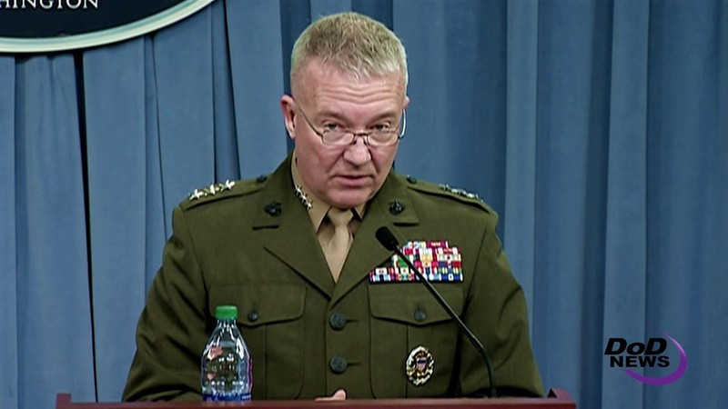 Tướng Thủy quân lục chiến Kenneth McKenzie - Chỉ huy Bộ Tư lệnh Miền Trung của Mỹ khẳng định Mỹ sẽ huy động mọi nguồn lực cần thiết để đối phó bất kỳ hành động nguy hiểm nào của Iran. Ảnh: DOD