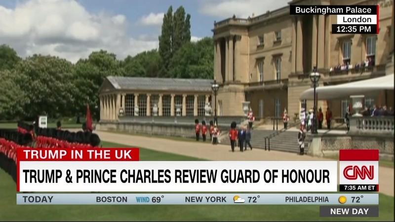 Hình ảnh vợ chồng Tổng thống Trump gặp Hoàng gia Anh - ảnh 3