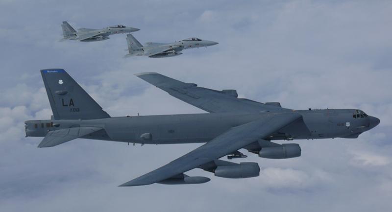 Boeing B-52 Stratofortress  là dòng máy bay ném bom lớn nhất của Không quân Mỹ. Ảnh: US AIR FORCES