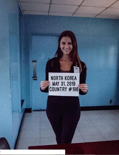Người đẹp Lexie Alford 21 tuổi thực hiện chuyến đi gần nhất đến khu phi quân sự liên Triều ngày 31-5. Ảnh: INSTAGRAM