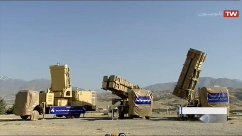 """Hệ thống tên lửa phòng không Khordad 15 của Iran có thể phát hiện và đuổi bắn """"các mục tiêu tàng hình"""". Ảnh: TWITTER"""