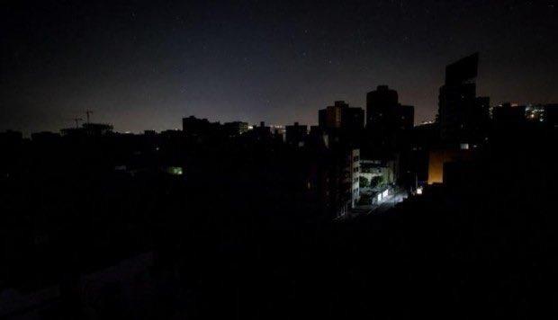 Cảnh mất điện ở Argentina. Ảnh: TWITTER