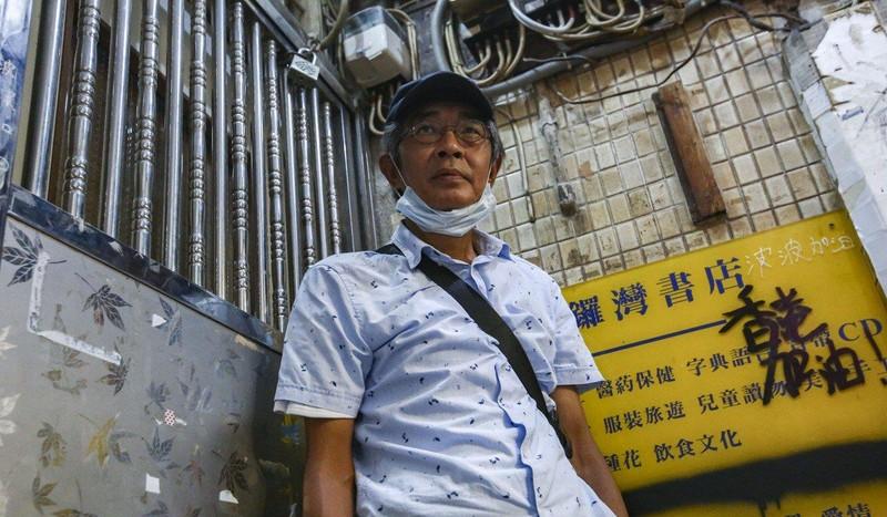 Chủ cửa hàng bán sách Lam Wing-kee chuyển từ Hong Kong đến sống ở Đài Loan đầu năm nay. Ảnh: SCMP