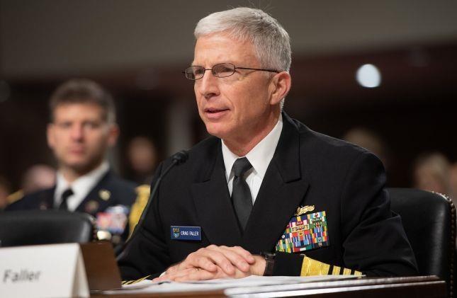 Đô đốc Craig Faller - Chỉ huy Bộ Tư lệnh miền Nam của Mỹ. Ảnh: JAPAN TIMES