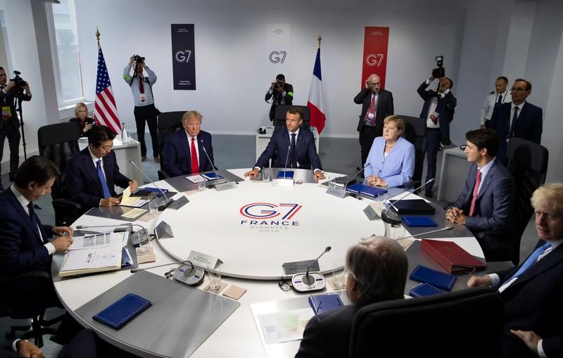 Các lãnh đạo G7 họp tại TP Biarritz (Pháp) cuối tuần rồi. Ảnh: AFP