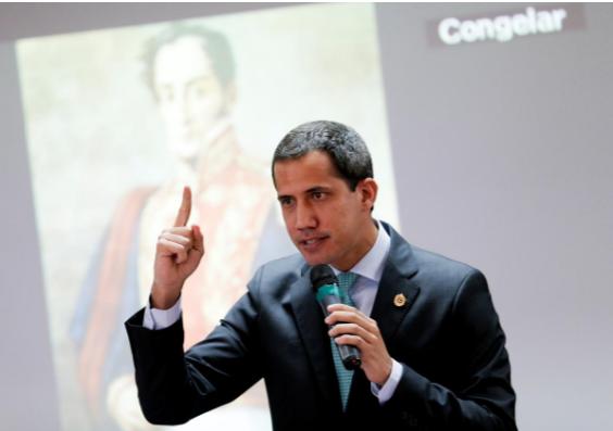 Chủ tịch Quốc hội Venezuela, lãnh đạo đối lập Juan Guaido tại phiên họp Quốc hội Venezuela ở thủ đô Caracas (Venezuela) ngày 3-9. Ảnh: REUTERS