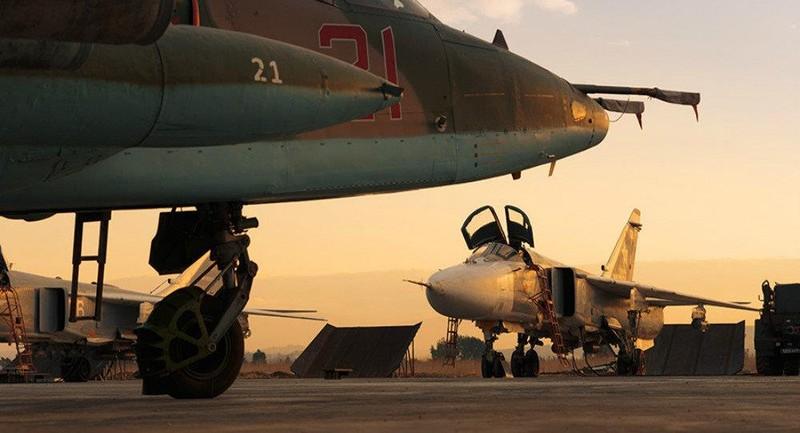 Máy bay chiến đấu Nga tại căn cứ không quân Hmeymim ở Syria. Ảnh: RUSSIA DEFENCE MINISTRY
