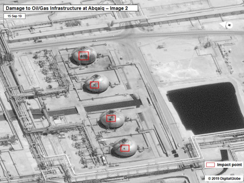 Có thông tin 2 nhà máy lọc dầu Saudi Arabia hứng 17 tên lửa hành trình từ Iraq hoặc từ Iran, chứ không phải bị máy bay không người lái của Houthi tấn công như nhóm này chịu trách nhiệm.