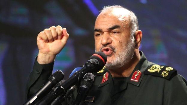 """Thiếu tướng Hossein Salami – Chỉ huy Quân đoàn Vệ binh Cách mạng Iran cảnh cáo Mỹ """"cẩn thận và đừng có sai lầm nào"""". Ảnh: GETTY IMAGES"""