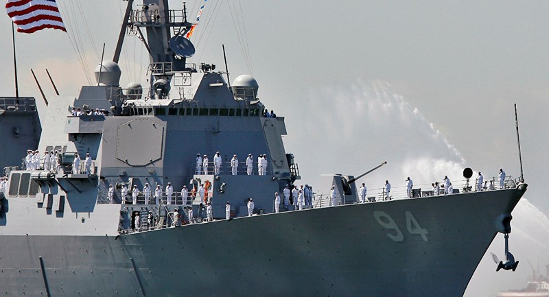 Tàu khu trục tên lửa USS Nitze của Mỹ. Ảnh: REUTERS