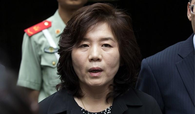 Thứ trưởng Ngoại giao Triều Tiên Choe Son-hui. Ảnh: AP