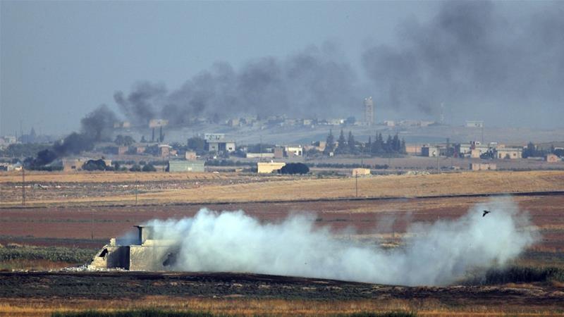 Một mục tiêu của lực lượng YPG ở đông bắc Syria bị Thổ Nhĩ Kỳ không kích. Ảnh: AP