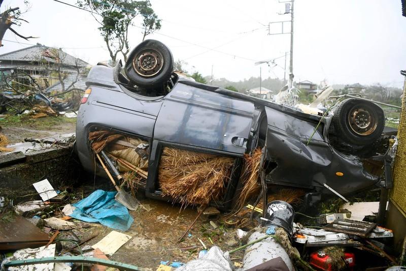 Hình ảnh bão Hagibis tàn phá Nhật trước khi quay ra biển TBD - ảnh 8