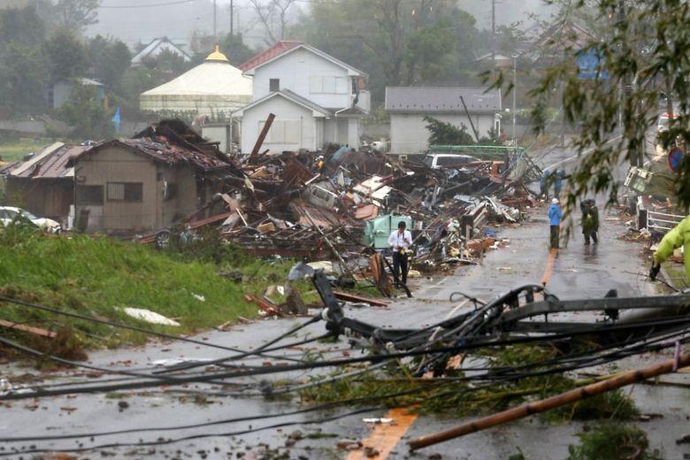 Hình ảnh bão Hagibis tàn phá Nhật trước khi quay ra biển TBD - ảnh 1