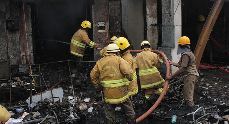 43 người chết, 59 người bị thương trong vụ cháy nhà máy sáng nay tại New Delhi (Ấn Độ). Ảnh: REUTERS